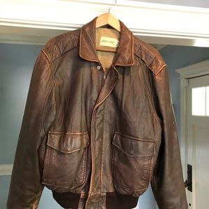 Vintage St. John's Bay Mens Brown Bomber Jacket